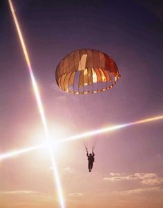 Skydiving at sunset is #BetterThanSex