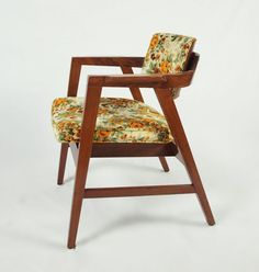 Great Vintage Chair. Gunlocke Chair, different fabric. Found at Habitat for Humanity ReStore in Sanford, NC