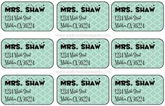 How to make Pretty Address Labels using Microsoft Word #DIY #Freereturnlabels #Addresslabels #Prettylabels