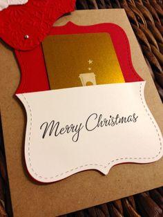 pocket, christma gift, gift cards, stampin up christmas, gift card holders, christmas gifts