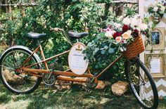 tandem bicycle + flower basket