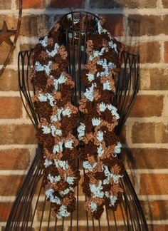 Chocolate and teal scarf