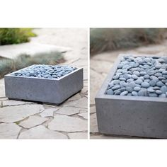 StoneToYou - Engineered Concrete Products Alea Hybrid Concrete Gas Firepit