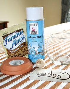 DIY Tutorial: Cookie Jars (For A Milk  Cookies Party)