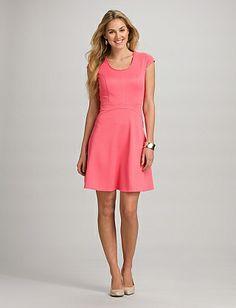 Textured A-Line Dress   Dressbarn