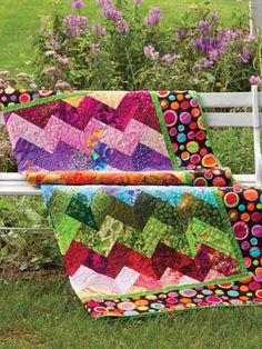 Scrappy Braid    Technique - Quilting    Got scraps? Well, here is the perfect solution to help use those piles of beautiful, leftover fabric -- the more variety, the better for this die-cut patchwork quilt.