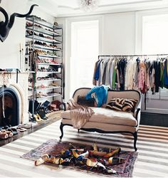 Who needs a spare bedroom when you can have a walk in closet room? Every girls DREAM!!!