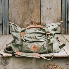 Iron Horse Tote in Sage. Rugged style
