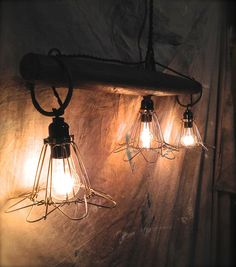 Rustic Primitive Hanging Pendant Lights / by OhGloryVintage, $199.00