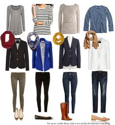 Striped Shirts and Blazer Outfit Ideas