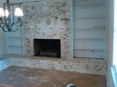 decorating fireplace makeover on painted