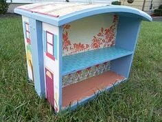 Repurpose drawers into doll house, too cute!