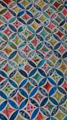 gorgeous! cathedral windows quilt