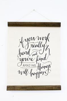 work hard, wall hangings, quotes, keep swimming, conan obrien, diy gifts, handmade gifts, hand made, amaz thing