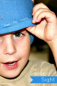 5 fun games to learn about the sense of sight.  Hands on activities to teach little ones how important sight is.