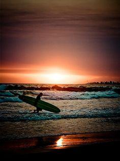 Sunset Surfer - Ventura California, by Chris Pritchard