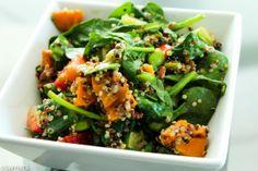 Sweet potato edamame quinoa salad