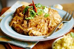 Light Slow Cooker Chicken Curry (6 Weight Watchers PointsPlus)