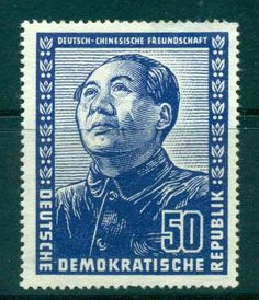 German-Chinese Friendship, GDR postage stamp, ca. 1960