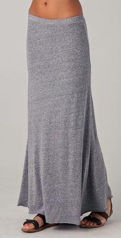 grey maxi skirt with pretty flow