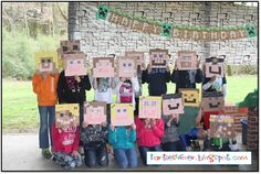 Using construction squares to make minecraft faces