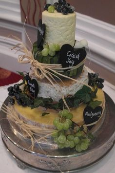 Cheese wedding cake, wedding cake...made out of cheese...a cheese cake!