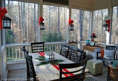 holiday, screened in porch ideas, 312 project, front porch, christma decor, christma outdoor, impart grace, back porches, christmas houses