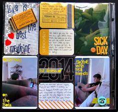 My Scrapbook Evolution- documenting a sick day