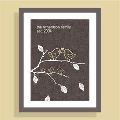 family wall art, family trees, tree print, famili wall, famili tree, craft idea, babi, person famili, birds