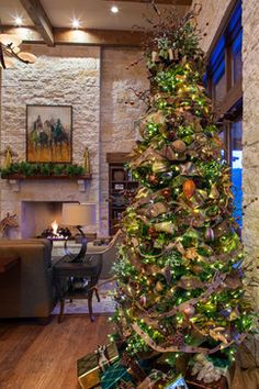 Hill Country Christmas - farmhouse - living room - austin - Dawn Hearn Interior Design