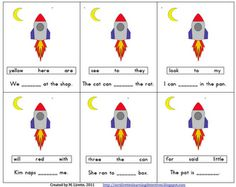 Out of This World! cloze sentence/sight word FREEBIE!