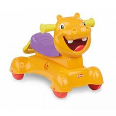 The Playskool Rock, Ride 'n Stride Hippo from Hasbro will grow with your child as it helps your baby walk, rock (scoot), and then ride on.