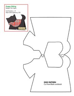 Free dog card base pattern