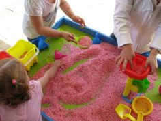 idea, sensory tubs, food coloring, sensori play, sensory play