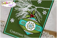 Stampin UP Christmas Bauble Stamp card by SDandi @ www.stampingwithsandi.com