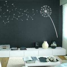 Dandelion Blowing in the Wind Wall Decal Sticker Graphic