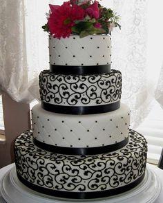 Fondant four tier wedding cake - http://www.utahcakes.com/caketwohundredsixteen.html