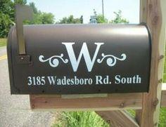 Mailbox paint / monogram idea