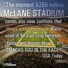 """""""Things aren't the same... [Waco] smacks you in the face."""" #SicEm"""