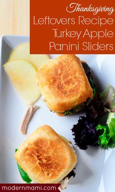 #Thanksgiving Leftovers Recipe: Easy Turkey Apple Panini Sliders