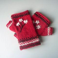 Knitting PATTERN GLOVES Blossom Fingerless Gloves Handwarmers. $4.00, via Etsy..