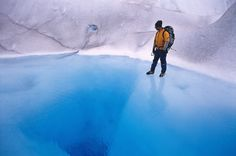 walking on the water ...   •     Glacier Grey in National Park Torres del Paine, Chile   by Dieter Temps