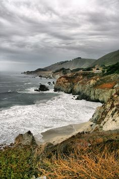 Pacific Coast Highway Monterey California by Bettina Woolbright