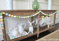 #pastel #Easter garland to decorate the home