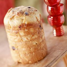 This Italian bread is similar to a fruitcake and traditionally served during the holidays. The Christmas treat is typically baked into a tall, cylindrical shape (empty coffee cans work great as baking pans). While its origins are sketchy, one legend holds that in the late 1400s, a young Milanese nobleman fell in love with the daughter of a baker named Toni...