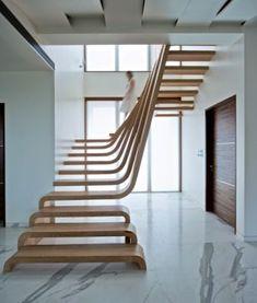 Sculptural stairway...