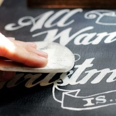Make a Permanent Chalkboard Wishlist to use year after year! Full tutorial and free printable from Tried & True.