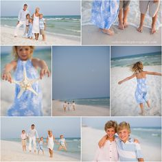 Beach family pictures, Florida, beach clothing ideas, children beach pictures, Watercolor pictures, Seaside pictures // Catherine Clay Photography