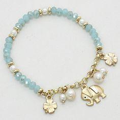 Lucky Ellie Bracelet in Aspen Blue Crystal on Emma Stine Limited