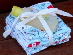 Decorative Wash Cloths: Probably the simplest homemade baby gift ever!